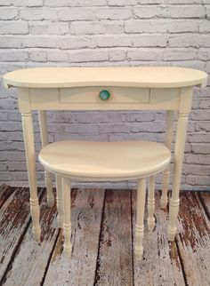 Vintage Kidney Shaped Desk Vanity Stool Knob by megsygirl on Etsy, $210.00