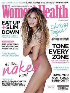 Chrissy Teigen poses for Women's Health UK magazine September 2015 Miranda Kerr, Chrissy Teigen Model, Slim Up, Christine Teigen, Face P, Skin Head, Harper's Bazaar, Womens Health Magazine, Kayla Itsines