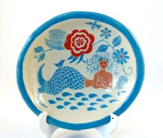 Handmade Exotic MERMAID Porcelain Bowl by TheClayBungalow on Etsy, $45.00