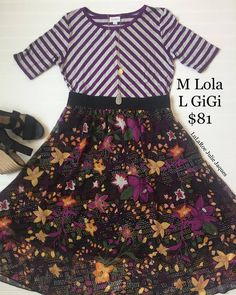 Check out this gorgeous Lularoe Lola and Lularoe Gigi outfit. Start your journey with pattern-mixing today <3
