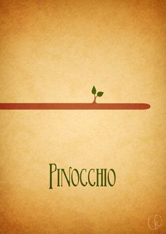 Pinocchio minimalist poster
