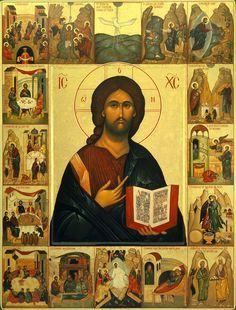 Icon of Jesus Christ Religious Images, Religious Icons, Religious Art, Russian Icons, Byzantine Icons, Biblical Art, Catholic Art, Sacred Art, Christian Art