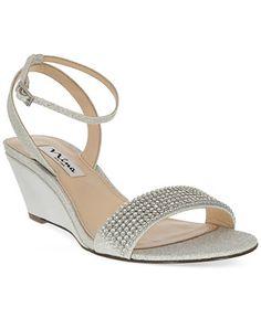 Nina Noely Mid-Wedge Evening Sandals