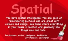 When your are gifted with spatial intelligence......