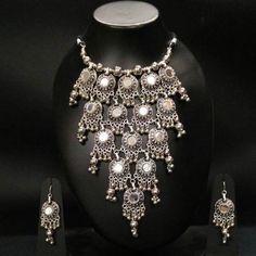 FairyBells Kart Oxidised Metal Jewellery set FBK201786