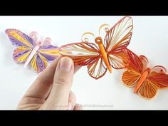 My first quilling tutorial for So many requested me to make this video for them. Thank you so much for watchin. Neli Quilling, Quilling Butterfly, Quilling Videos, Paper Quilling For Beginners, Quilling Comb, Paper Quilling Tutorial, Butterfly Project, Butterfly Ornaments, Quilled Paper Art