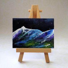 Starlit Mountain Range ACEO £6.00