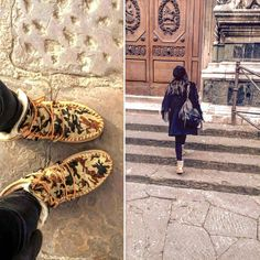 Walking in #Florence with my #Ymiz #boots