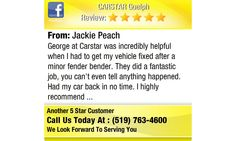George at Carstar was incredibly helpful when I had to get my vehicle fixed after a minor...