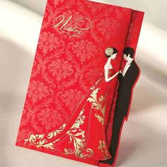 Wholesale Red Gold Stamp Wedding Invitations Cards With Printable Blank Inner Sheet & Envelope & RSVP Card Available 3 Folded Wedding Supplies, Free shipping, $1.77/Piece | DHgate Mobile