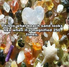 This is what beach sand looks like when it's magnified 250 times. Small Acts Of Kindness, Wtf Fun Facts, Random Facts, Random Stuff, Oui Oui, The More You Know, Rocks And Minerals, Beach Bum, Mind Blown