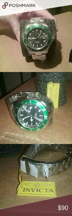 Men's Invicta Pro Diver Stainless Steel Watch Never worn, still in factory face cover, Invicta Pro Diver Watch in,exc. , as new condition. Invicta Pro Diver  Accessories Watches