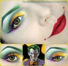Batman makeup DC Comics Eyeshadow Creative EyeLiner Mascara Art theme cosplay beautiful Joker