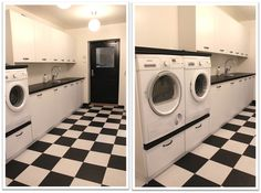 VÄLKOMMEN HEM!: HUSET: TVÄTTSTUGA Laundry Area, Laundry Rooms, Stacked Washer Dryer, Home Appliances, Inspiration, Attic, Room Ideas, Design, Spring Cleaning