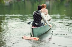 wedding getaway canoe! I really have to work on convincing sam