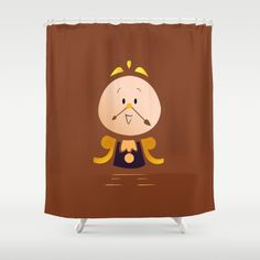 Buy Shower Curtains featuring Baby Cogsworth by happy patterns. Made from 100% easy care polyester our designer shower curtains are printed in the USA and feature a 12 button-hole top for simple hanging.