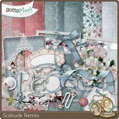 Designer Spotlight & Daily Download 2/10/16 :: gottapixel.net by Silvia Romeo - Solitude Remix Mini Kit