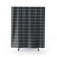Patterned Shower Curtain Black Bathroom Decor Geometric Water Repellent Tub Curtain Bathroom Accessories Unique Modern Bathroom Grey by YELDAEH now at https://ift.tt/2LIc0TR
