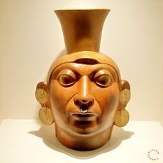 Moche Portrait Vase (1-800 CE). Larco Museum, Lima