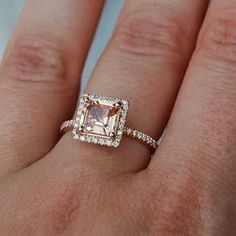 Rose gold engagement ring. This WILL be mine someday... Gahhhh.