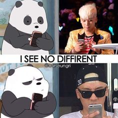 WE BARE BEARS | Panda Seungri | BIGBANG