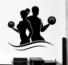 Cheap sport decals, Buy Quality vinyl decal directly from China decals for wall Suppliers: Removable sports decals for Living Room Sports Wall Sticker Fitness Bodybuilding Dumbell Barbell Gym Vinyl Decal Cheap Wall Stickers, Wall Stickers Home Decor, Vinyl Wall Decals, Sports Decals, Sports Wall, Logo Academia, Barbell Gym, Bodybuilding, Gym Logo
