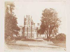 Margam Castle, the west front, 1845. Salted paper print from calotype negative.