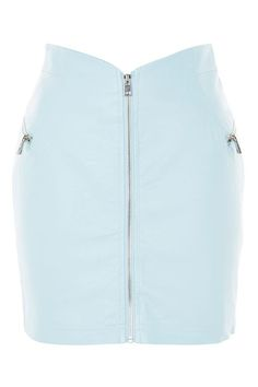 '80s Zip Through Mini Skirt - Skirts - Clothing - Topshop USA