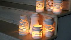 Artesanato Casa e Dicas: Aprenda a fazer lanternas reaproveitando potes de ...