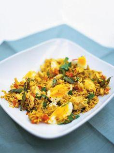 Kedgeree - British/Indian dish w/haddock and spicy curry basmati