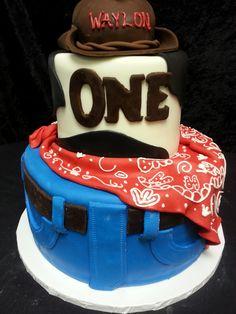 Cookie Jar Bakeshop I Custom Cakes I Birthday Cake I Western Themed Birthday Cake I Cowboy Themed Birthday Cake I 1st Birthday Cake