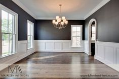Builder spec house - Traditional - Dining Room - other metro - by MA Allen Interiors