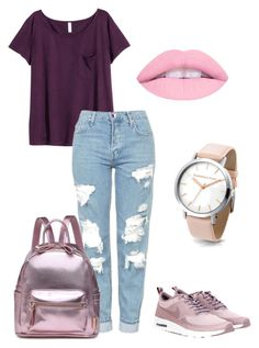 """Cutie"" by outfits-by-jahan on Polyvore featuring H&M, Topshop and NIKE"