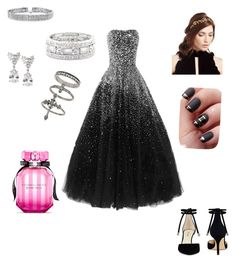 """""""Night at the ball"""" by h-lonchar ❤ liked on Polyvore featuring Nine West, Jennifer Behr, Bling Jewelry, Fantasia by DeSerio, Sole Society, Miss Selfridge and Victoria's Secret"""