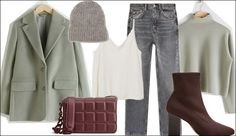 Winter Layering Outfits für das Büro und den Alltag #layering #layeringlook #layeringoutfits #fashiioncarpet #wintertrends Layering Outfits, Blazer, Green Fashion, Style Inspiration, Polyvore, Everyday Fashion, New Looks, Turtleneck, Dressing Up