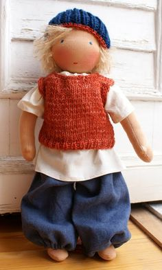 Creative ideas for you: Waldorf Dolls love his outfit