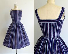 Gorgeous 1950s Lanz dress https://www.etsy.com/listing/387492094/vintage-1950s-navy-blue-and-red-floral