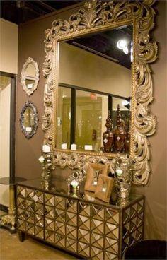 54 mejores im genes de espejos decorativos importados for Espejos rectangulares plateados