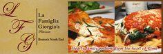 La Famiglia Giorgio's | Italian Restaurant | North End, Boston, MA