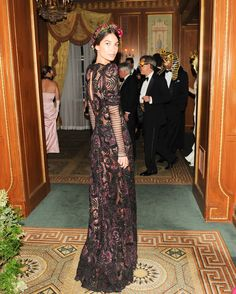 Lily Aldridge in a Rona Pfeiffer ring at the Save Venice gala.