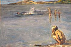 Fritz Syberg, Børnene bader, 1908. Faaborg Museum.