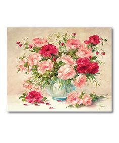 Loving this Medley with Roses Gallery Wrapped Canvas on #zulily! #zulilyfinds