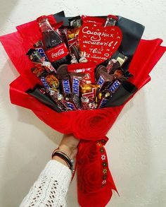 Homemade Gifts For Boyfriend, Diy Gifts For Him, Birthday Gifts For Boyfriend, Boyfriend Gifts, Gift Bouquet, Candy Bouquet, Valentine Day Gifts, Valentines, Edible Bouquets