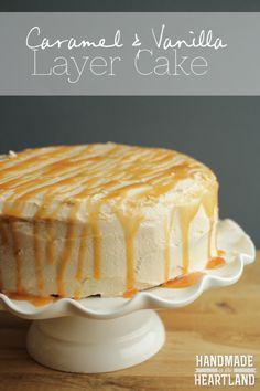 Caramel and Vanilla Layered Cake