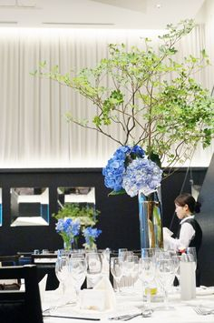 #novarese#VressetRose #Wedding #blue #purple #kitayamamonorith #natural #Flower #Bridal #ノバレーゼ#ブレスエットロゼ#北山モノリス#ウエディング #ゲストテーブル#ドウダンツツジ#アジサイ#結婚式