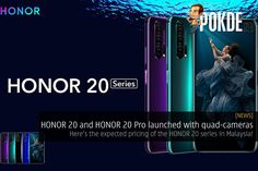 The HONOR 20 and HONOR 20 Pro has been officially launched, with a new quad-camera setup which includes a dedicated macro camera! Macro Camera, Simple Math, Low Lights, Technology News, Wide Angle, Light Photography, Quad, Product Launch, Quad Bike