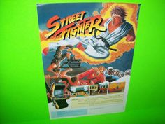 STREET FIGHTER By CAPCOM 1987 ORIGINAL NOS RARE VIDEO ARCADE GAME SALES FLYER #videogameflyer #arcadeflyer #videoarcade #retroarcade #streetflighter