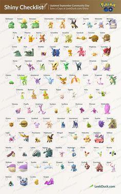 Shiny list September 2018 Pokemon Go Pokemon Go List, Pokemon Chart, Gen 1 Pokemon, All Pokemon, Cute Pokemon, Groudon Pokemon, Pokemon Eevee, Pikachu, Pokemon Go Evolution