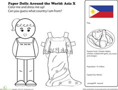 Worksheets: Filipino Paper Doll