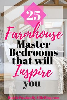 Farmhouse Master Bedroom Look at all the white and wood in these bedrooms. These shiplap walls and wood beams are gorgeous. This bedroom collection is dreamy. You will get inspired by these lookalike Joanna Gaines master bedrooms. Dream Master Bedroom, Farmhouse Master Bedroom, Master Bedrooms, Bedroom Rustic, Joanna Gaines, Feng Shui, Diy Design, Interior Design, Interior Ideas